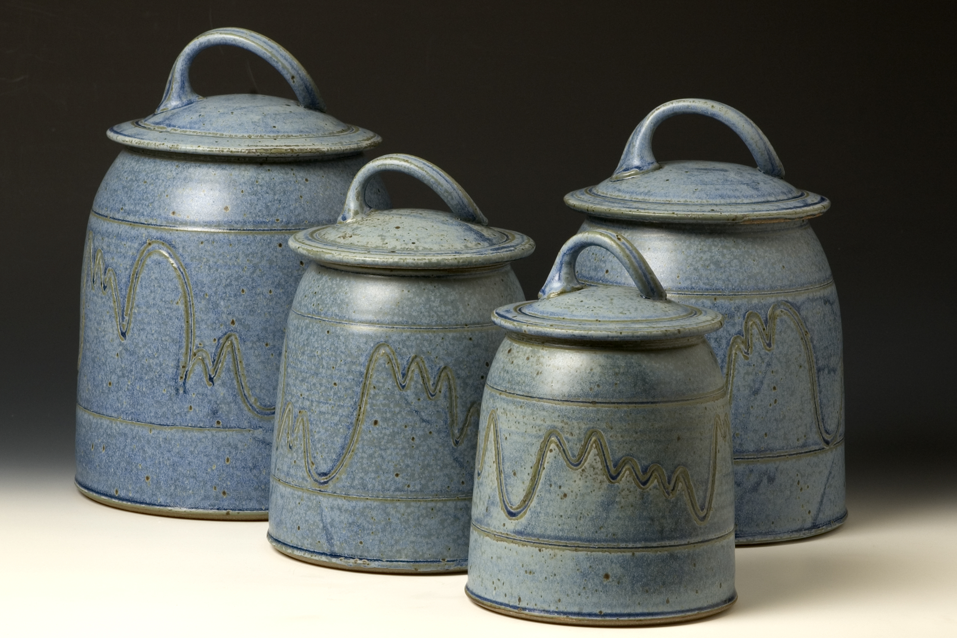Ceramic Kitchen Canister Sets Quail Run Pottery Canister Set Western Kitchen Pinterest
